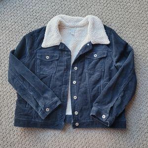 Arizona corduroy and faux sherpa jacket